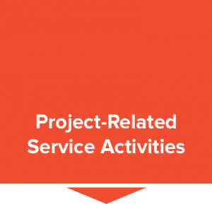 Red project-related service activities box