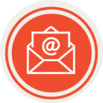 Red volunteer signup icon