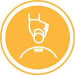 Yellow fundraising icon