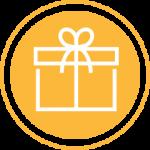 Yellow gift icon