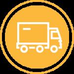 Yellow truckload icon